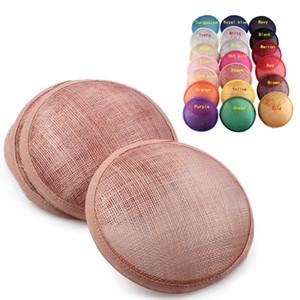 고품질 sinamay 바인딩 작은 접시 sinamay 기본 매혹 모자 공예 공급, 더비, 파티, 웨딩, 직경 13.5 센치 메터
