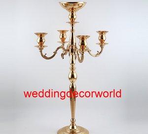 Nuovo stile vendita calda centrotavola oro alto cilindro mentale candelabro oro per matrimoni decor0911