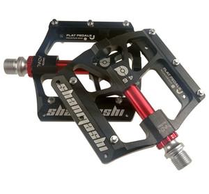Bicicleta de montaña Six Bearing Pedal Pedales de aleación de aluminio con tres rodamientos para bicicletas Pedal de confort plano