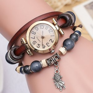Leather retro watch small fish pendant bracelet watch jewelry National culture Bracelet Christmas gifts For children