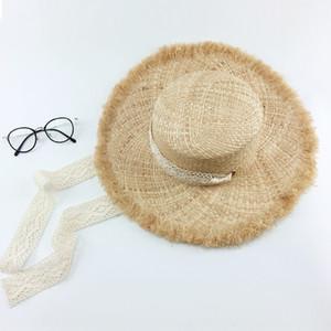 Todas as noites o sulco superior Lafite grande vantagem chapéu de fita de algodão pára-sol sol chapéu de sol férias na praia