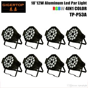 8 Paketi Alüminyum Kılıf 18x12W 4IN1 Led Par Işık Kapalı Ucuz Fiyat RGBW Led Par Kutular DMX512 Light TP-P53A dj 4 / 8Kanal Led Par 64 Sahne yıkama