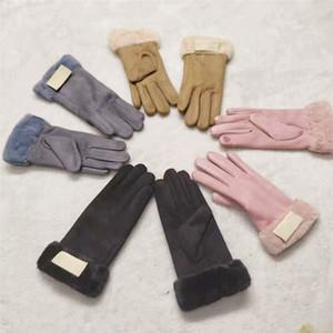 Austraila Designer Mulheres Luvas UG Touch Screen luva Faux camurça Luvas de Inverno de lã Dedos completa Luvas Mitts quentes ao ar livre