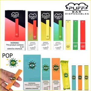 Votados popular em US Puff Bar Pop Pod Kit 280mAh bateria com 1,3ml Cartucho Dispositivo Vape Pen com nova embalagem