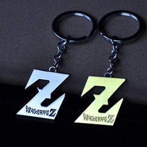 """ADEDI: 10 ADET Trendy erkek Takı Anahtarlık Dragonball Evolution """"Z"""" Logo Alaşım Parti Hediye Için Kryring Araba Dekorasyon"""