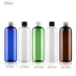 20pcs 500ml PET Lotion Cream Packing Bottle With Flip Top Cap,Empty Cosmetic Containers,Refillable Makeup Sample Containers