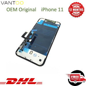 100% OEM Original LCD For iPhone 11 Display Panels 3D Touch Digitizer Phone Screen Full Replacement Assembly Black