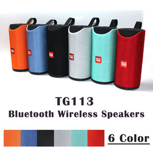 TG113 Bluetooth Kablosuz Hoparlörler Subwoofer Handsfree Çağrı Profil Stereo Bas Desteği Hi-Fi 1200 mah şarj TF USB Kart AUX Hattı 3