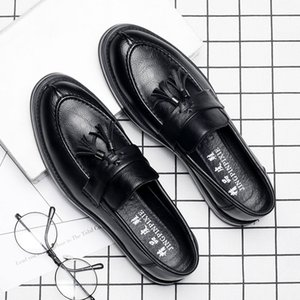 Men Slip-ons boat shoes England style flats office and career dress shoes for men academy patent footwear z140