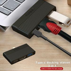 Type C USB 3.1 to USB-C 4K HDMI USB 3.0 адаптер кабель 3 в 1 концентратор для Macbook Pro