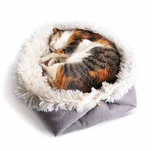 Longo Plush Super macio velo Pet cama Kennel Dog Cat Praça Dormir Almofada Saco do filhote de cachorro Mat macia Blanket Pet Shop Dog Beds gato Colchão