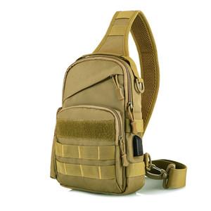Tactical Sling Bag Outdoor Camouflage Chest Pack Shoulder Backpack Sport Bag for Trekking Camping Hiking Sling Daypack