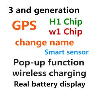 2019 récent de haute qualité H1 Chip AP2 3nd Capteurs Ear Casque de commande vocale modification du nom Bluetooth support Tous les téléphones intelligents