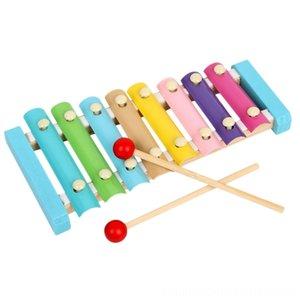 Madera infantil Educación Infantil padres e hijos Niño Interacción Piano Knocking Macarons octava piano Llamar a la puerta del juguete