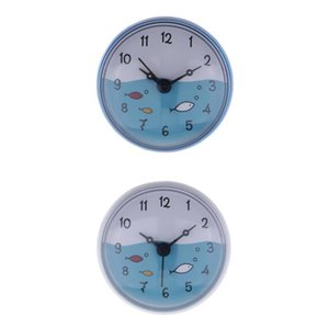 2x Shower Clock Kitchen Silicone Wall Suction Clock For Mirror Windows