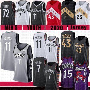 Kevin Durant Kyrie Irving Vince Carter Pascal 15 Siakam Basketball Jersey Biggie Brooklyn Nets Toronto Raptors Tracy McGrady Lowry VanVleet