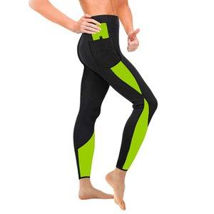 2020 Women Body Shaper Workout Waist Trainer Butt Lifter Tights Capris Sauna Pants Tummy Control Panties Neoprene Slimming Pants