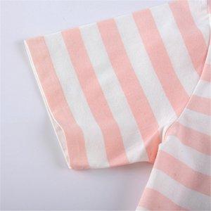 Cotton Girls Nightgowns Summer Kids Clothes Children's Nightdress Baby Girl Homewear Pajamas Dress Cartoon Striped Night Gowns