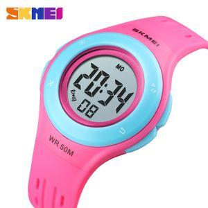 Skmei Kids Watch Led Sport Style Niños Relojes Boy Girl Moda Reloj Digital 5bar Reloj Impermeable Montre Enfant 1455 J190526