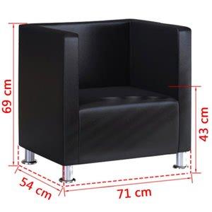 Lounge chair Club armchair cocktail chair Relax sofa black