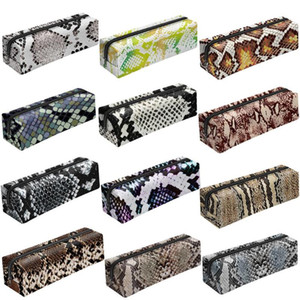 3D Digital Snake Print Pencil Case Zipper Cosmetic Bag Pen Box Papelería