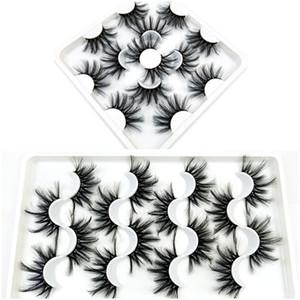 7 Paare 25mm Wimper-gefälschte 3D Mink Wimpern Mink Lashes Natürliche Dramatische Volume Wimpernverlängerung falsche Wimpern