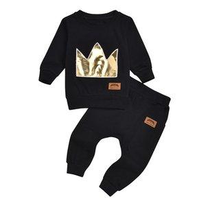 Clothes For Newborn Girls Sweatshirt + Pants 2PCS Girl Boy Clothing Set Autumn Winter Casual Girls Boys Sport Clothes Set#y3