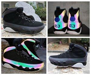 2020 New 9 Racer Bleu Chaussures de basket-CT8019-024 3M réfléchissant Caméléon Jumpman 23 hommes exterieurs chaussures de sport