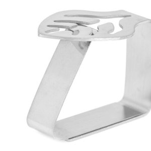 4pcs Table en acier inoxydable tissu clip Promenade Clips Nappe ronde stable de mariage Promenade Couverture Table Holder