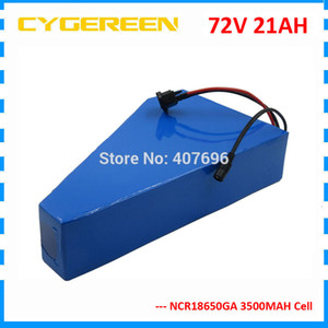 3000W 72V 20AH ebike Batterie 72V 21AH Lithium Dreieck Batterie 72V Fahrradbatterie Verwendung GA 3500mAh Zelle 50A BMS