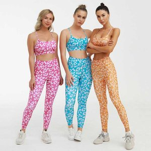 2020 New Yoga Print Yoga Fitness Vest Trousers Sports Suit Suit Sport Set Women Workout Set Workout Clothes For Women