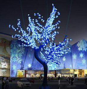 لامعة LED أزهار الكرز إضاءة شجرة عيد الميلاد للماء حديقة المناظر الطبيعية مصباح الديكور لوازم الزفاف حفلة عيد الميلاد