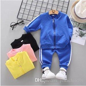 Yeni sonbahar çocuk giyimi iki çubuk uzun kollu pantolon iki çocuk takım elbise stand stand yaka çekin 5 yaşında bebek set