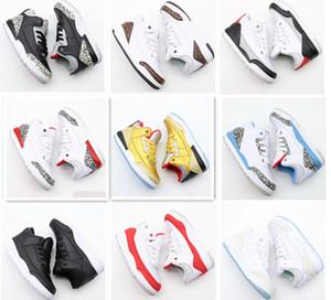J3 3S 3 Kids Basketball Chaussures Enfants Entraîneurs Sports sportifs Athlétique Chaussures de course pour Boy Bottes Footwear Gym Cadeau Enfants 11C-3Y
