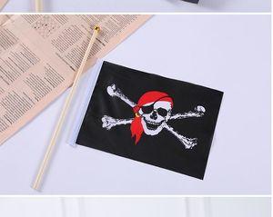 Halloween bandiera pirata mano bandiere bandiera stendardo pensili tessuto poliestere decorazione del partito
