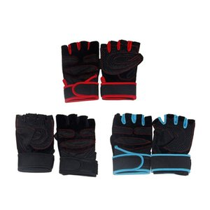 Comfortable Anti-Slip Half Finger Fitness Gloves Weight Lifting Gloves Protect Wrist Gym Training Fingerless Sport Gloves NEW