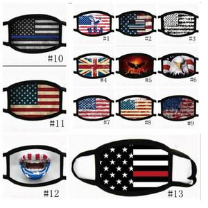 18styles Trump visage Masque Coton Trump Masques 2020 Tissu anti-poussière Masque Homme Femme Mode unisexe hiver chaud Masques drapeau noir US GGA3546-3