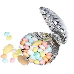 10pcs  lot Round gift box, colorful shell wedding candy box
