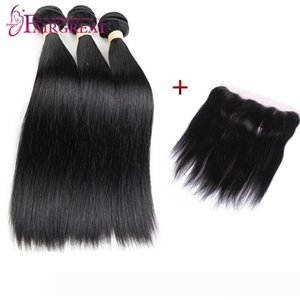 pelucas Good Straight Bundles With Lace Frontal 3bundles Brazilian Straight Hair With Closure Brazilian Hair Weave Bundles With
