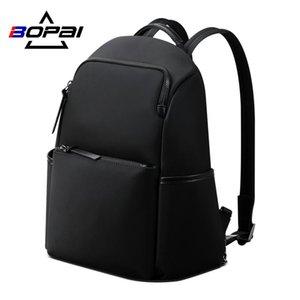 BOPAI Nero Back Pack Women Casual Business Laptop Backpack impermeabile anti furto signore Viaggi Bagpack sacchetto di scuola