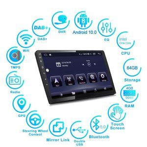 "9/10. 1 "" Universal Android 10.0 Car Multimedia Player Stereo Radio GPS Navigation Head Unit WIFI Bluetooth DSP 2+32/4+64GB car dvd"