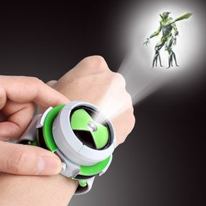 2019 Hot Selling Japan Projector Watch Genuine Toys Cartoon earth guard children Slide Show Watchband Drop Clock Toys Green