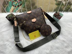 Hot 3 piece designers women's handbags classic shoulder bag fashion wallets chain tote bag folded purses