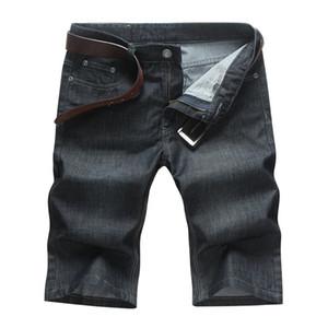 The new fat plus fat XL Men's waist denim shorts tide male black loose denim pants