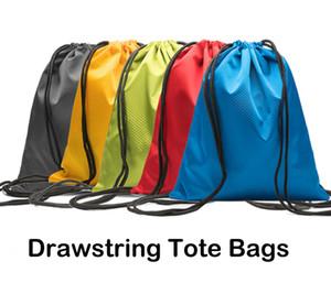 Vêtements pour enfants Chaussures Sac étanche 600D Oxford Tissu Sacs à cordon de sport Gym Dance Sac à dos 5 couleurs Shopping stockage sac pliant