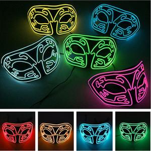 EVA светящаяся лисица маска EL Холодный свет Glow Mask Dance Party Halloween Horror Вспышка Маска Бал-маскарад Личность Украшение T9I0084
