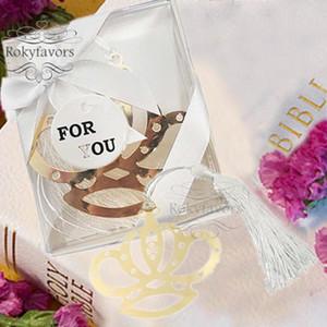 20PCS Corona segnalibro con la nappa favori di partito dei regali di compleanno Baby Shower Battesimo Evento Keepsake partito omaggi Idee