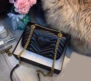 Классическая мода на одно плечо сумка европейский и американский популярный бренд сумка высокого качества женщины золотой флис лицо косая меня