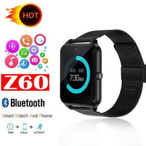 بلوتوث سمارت ووتش الهاتف Z60 الفولاذ الصلب دعم sim tf بطاقة الكاميرا البدنية المقتفي GT08 GT09 DZ09 a1 v8 smartwatch ل ios الروبوت