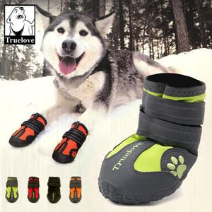 Top Quality NUOVO 100% Impermeabile Caldo Big Dog Scarpe Inverno Grande PET Outdoor Long Dog Boots Scarpe antiscivolo per cani 4pcs / Set 4.9